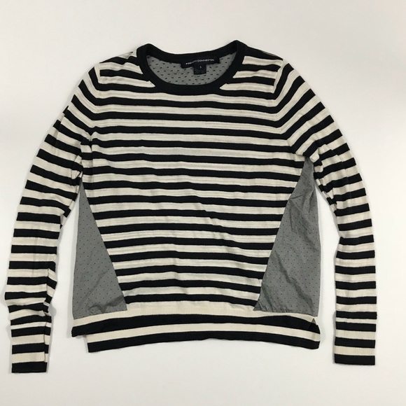 cb189a061bd French Connection Tops - French Connection Women s Long Sleeve Striped Top